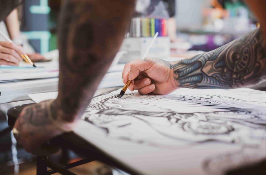 Artist Designing Tattoo-min (2)